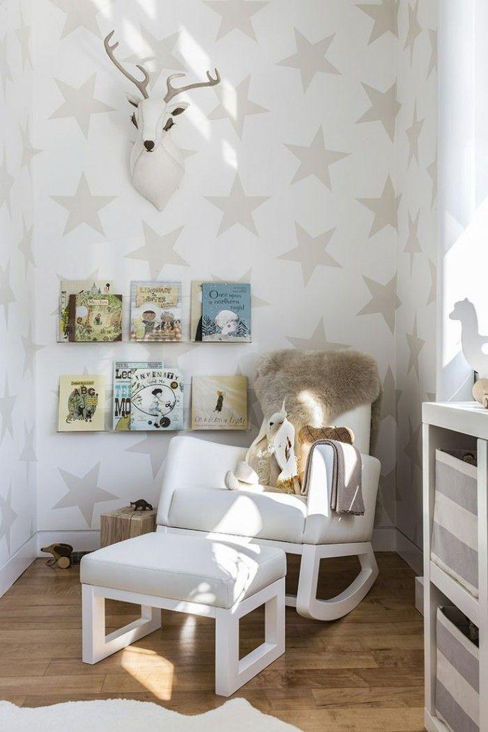 so eine schöne tapete für ein kinderzimmer. gefällt mir sehr gut, Schlafzimmer design