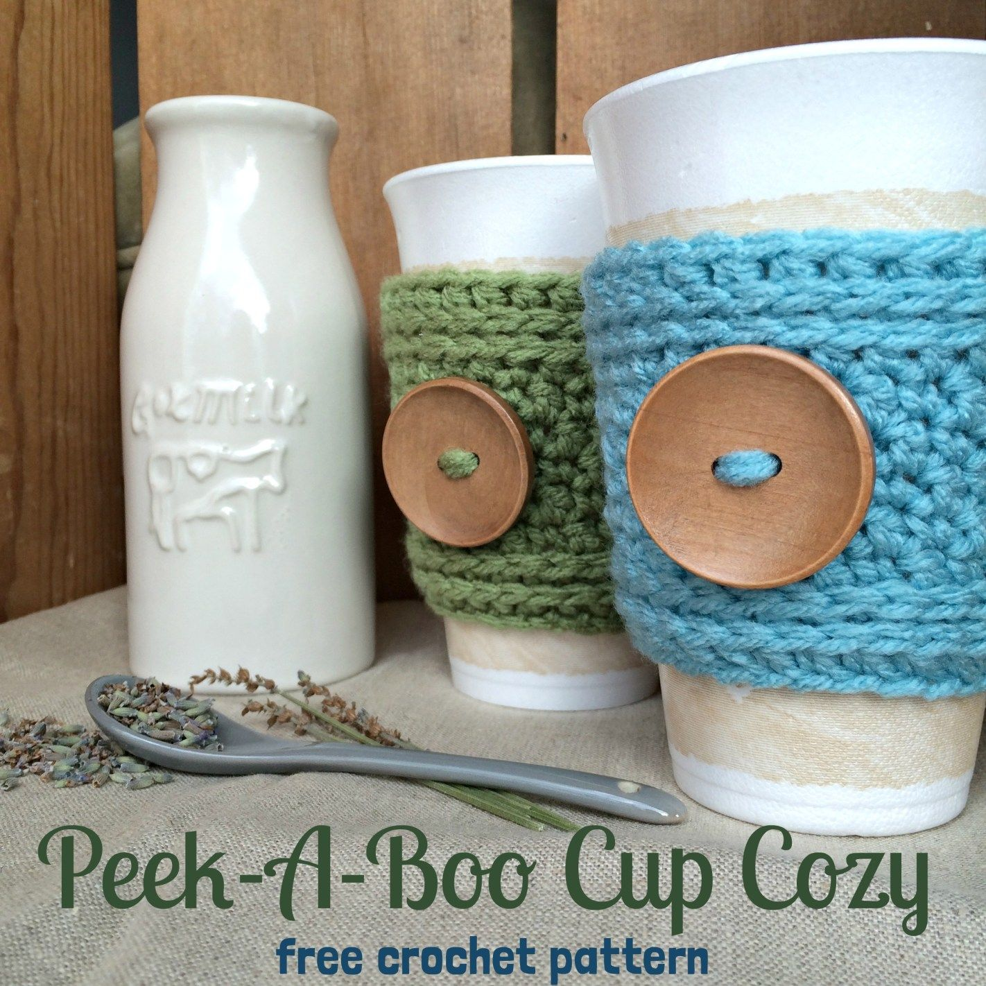 Crochet Cup Cozy Pattern | Peek-A-Boo Cup Cozy | Free Pattern from ...