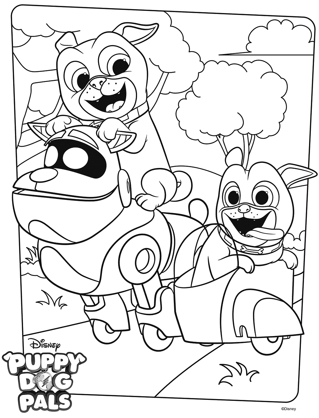 Puppy Dog Pals Coloring Pages - Best Coloring Pages For ...