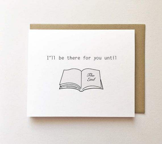 Book Lover Anniversary Card Cute Anniversary Card By Wonderflies Birthday Cards For Friends Love Cards Punny Cards