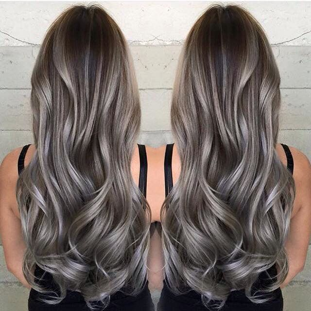 75 Ombre Hair Color For Grey Silver | Hair coloring, Hair style ...