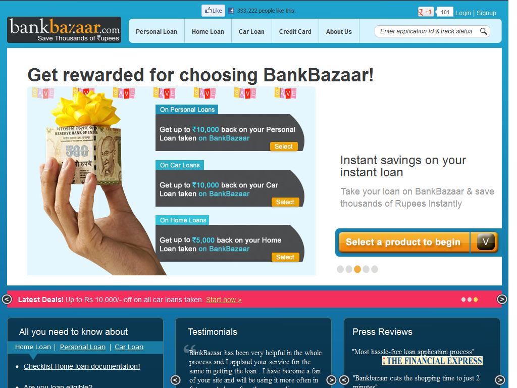 How To Quote A Website Bankbazaar Is An Indian Online Loan Marketplace That Gives