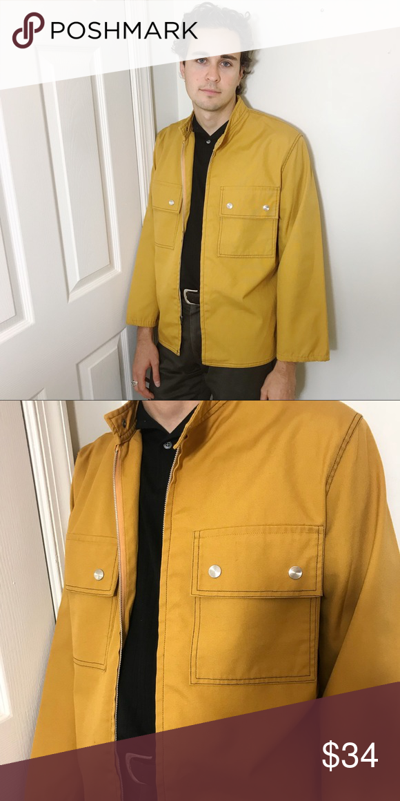 Vintage Yellow Jacket Amazing Condition With No Flaws Unisex Could Fit A Small Or Medium Vintage Jackets Coats Vintage Jacket Jackets Vintage Yellow