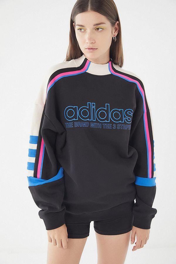 adidas Mock Neck Moto Sweatshirt   Sweatshirts, Mock neck