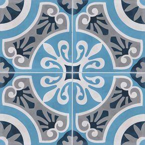 Carreau De Ciment Bleu Cercle L 20 X L 20 Cm Carreau De Ciment