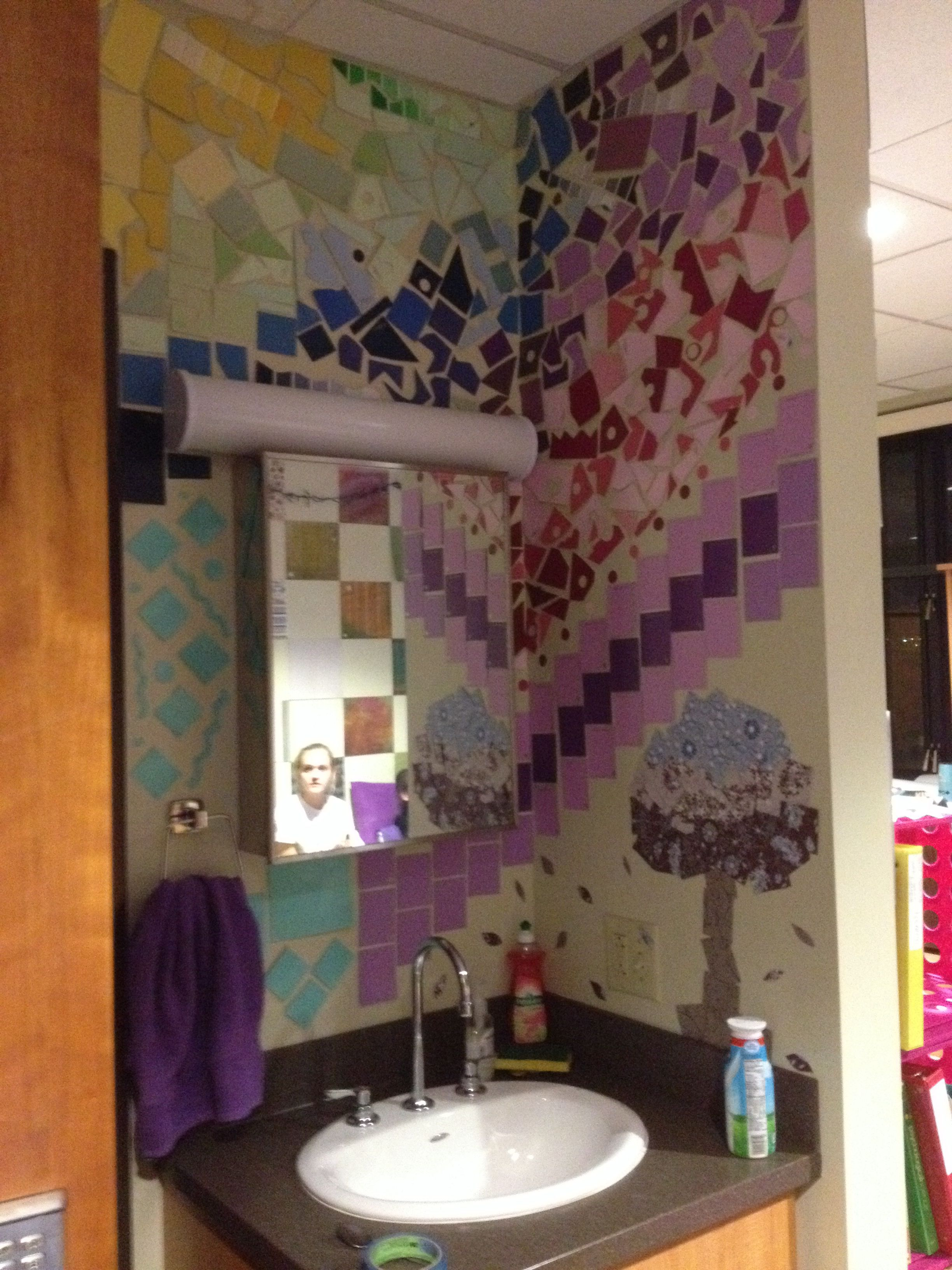 Design Your Own Dorm Room: Create Your Very Own Mosaic Using Paint Samples Or