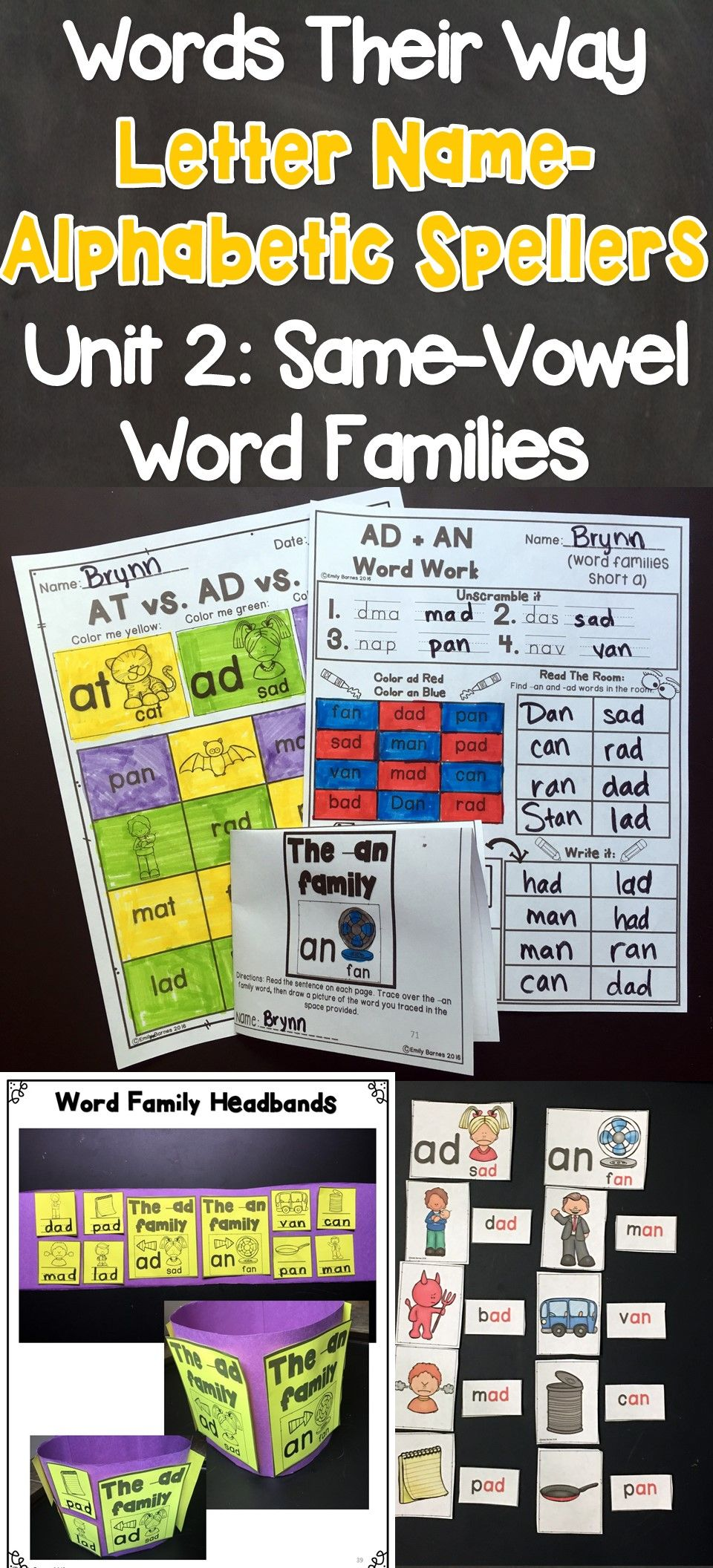 Words Their Way Letter Name Alphabetic Spellers Same Vowel Word
