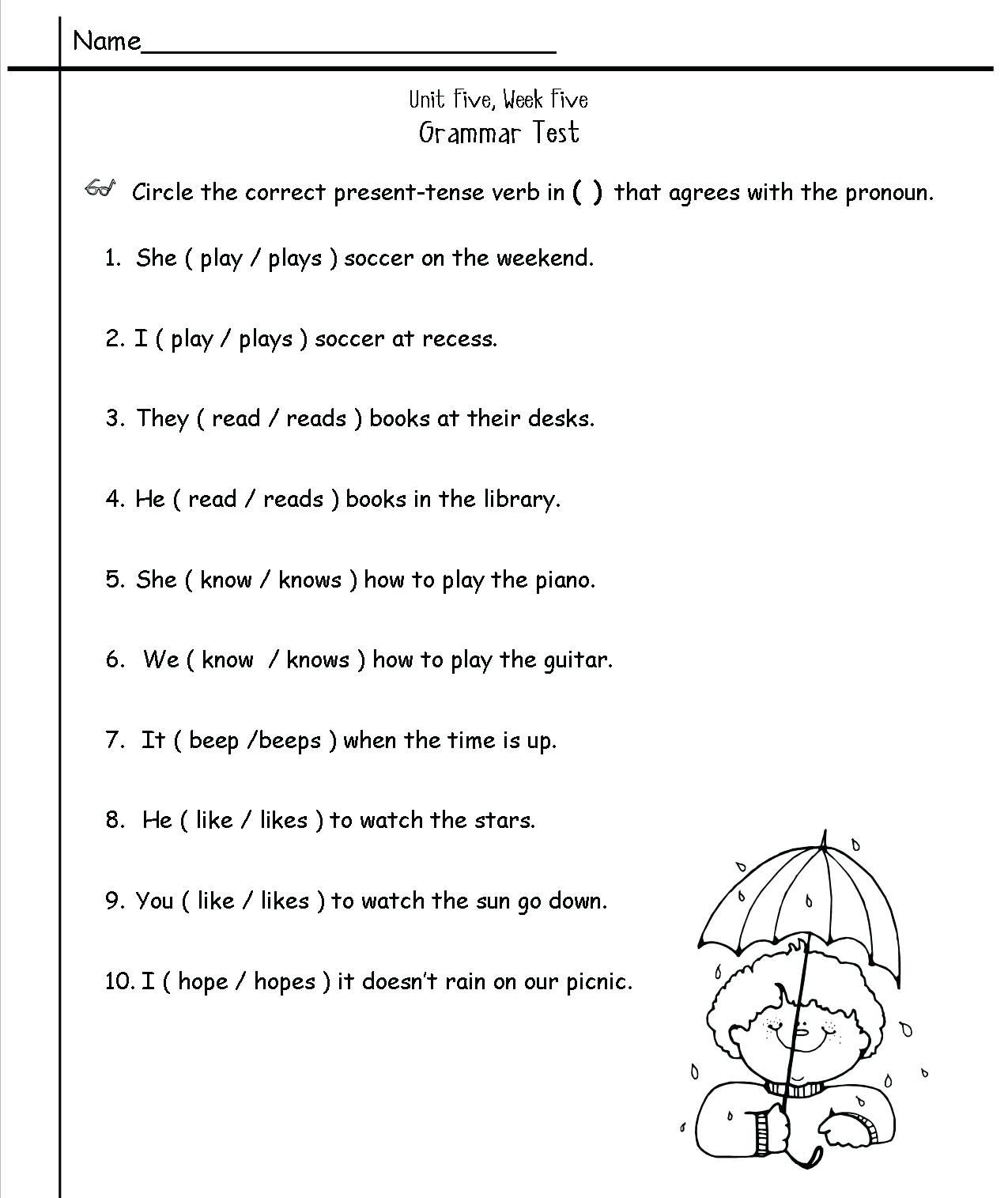 2nd Grade English Worksheets Best Coloring Pages For Kids Grammar Worksheets English Grammar Worksheets 2nd Grade Grammar