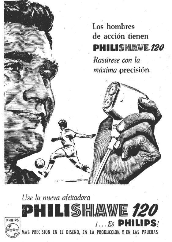 Publicidad de Philishave de Philips, año 1962