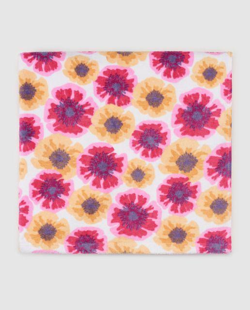 Toalla de niña B con B con flores bicolor  cb0b069b510