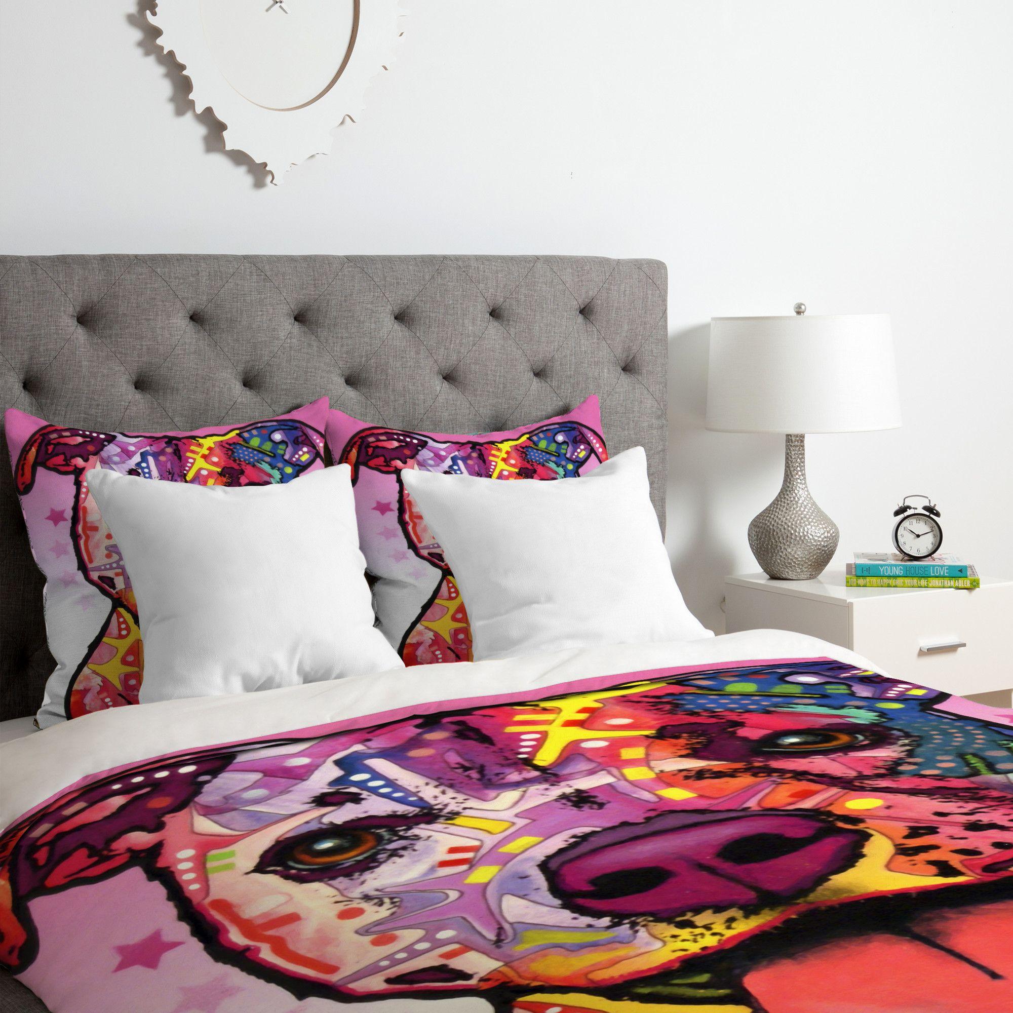 Best Dean Russo Cherish The Pitbull Duvet Cover Set Bed 640 x 480
