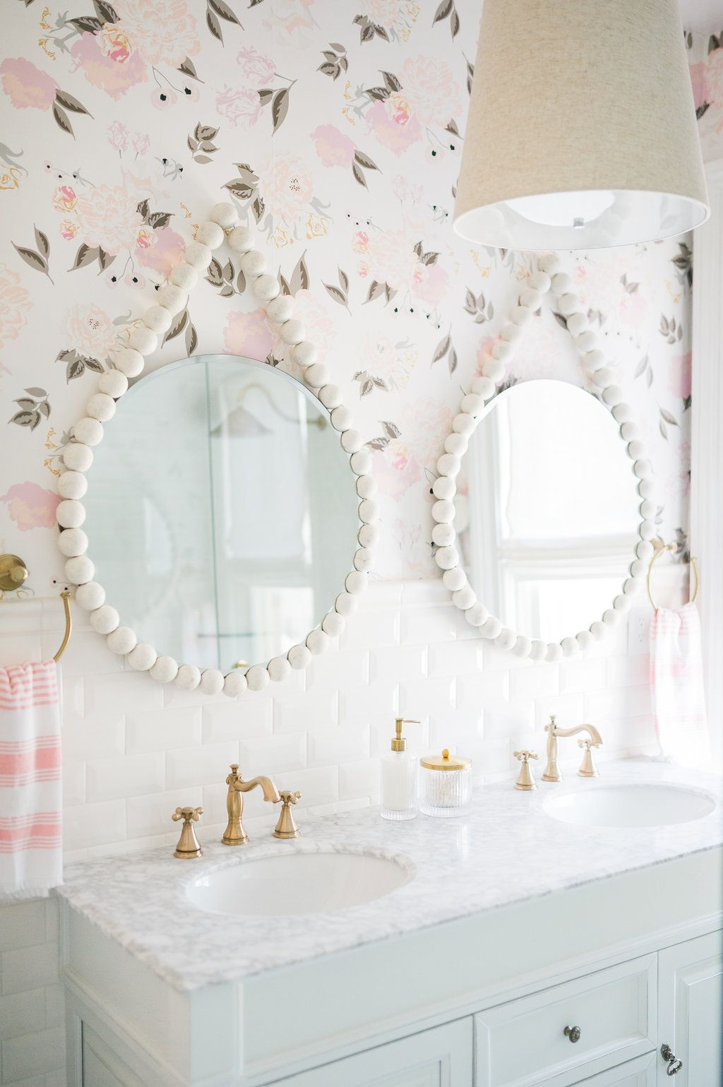 Airy, Modern, Feminine Bathroom Renovation Reveal – The Leslie Style