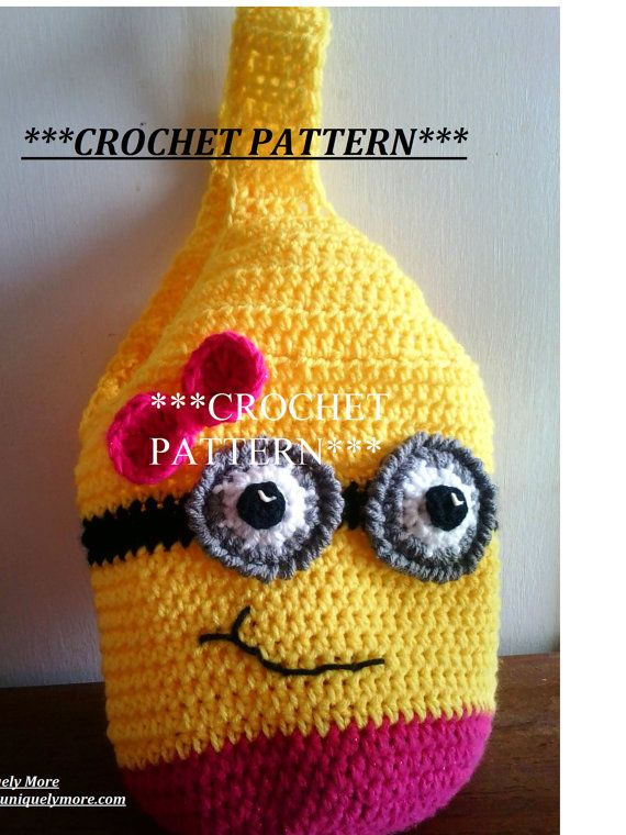 CROCHET PATTERN for boy or girl Minion Purse by uniquelymore, $2.00 ...