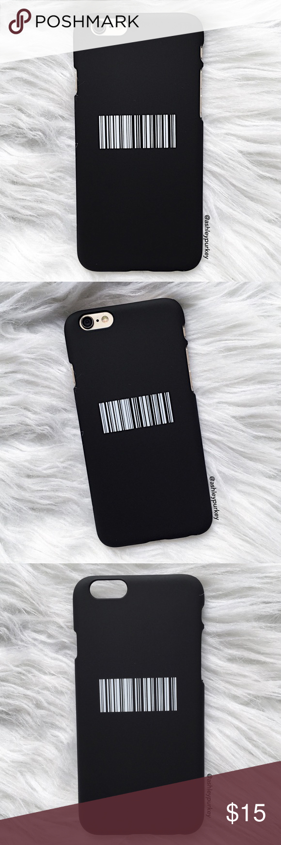 "Black and white barcode iPhone 6/6s phone case •iPhone 6/6s (4.7"")  •hard plastic   •phone not included   •no trades    *please make sure you purchase the correct size case. i am not responsible if you purchase the wrong size  item #: 21 B-Long Boutique  Accessories Phone Cases"