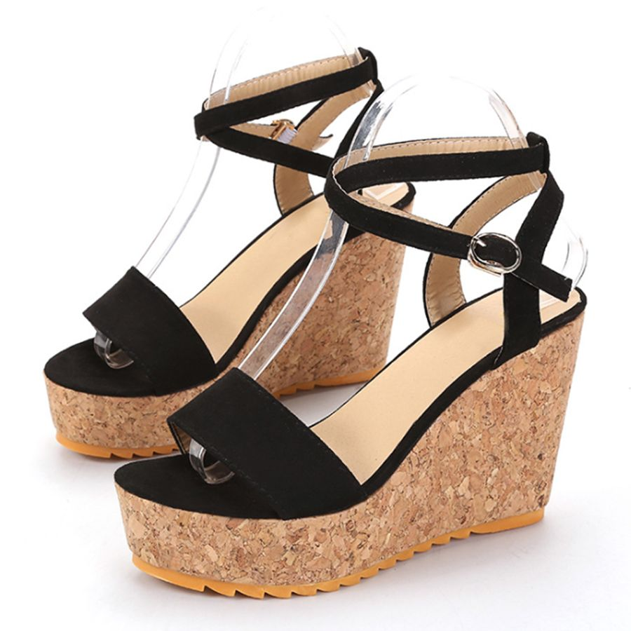 9ec8b6a41917 Plain High Heeled Velvet Ankle Strap Peep Toe Date Sandals-Berrylook   sexysandals  popularsandals  sandalsonsale