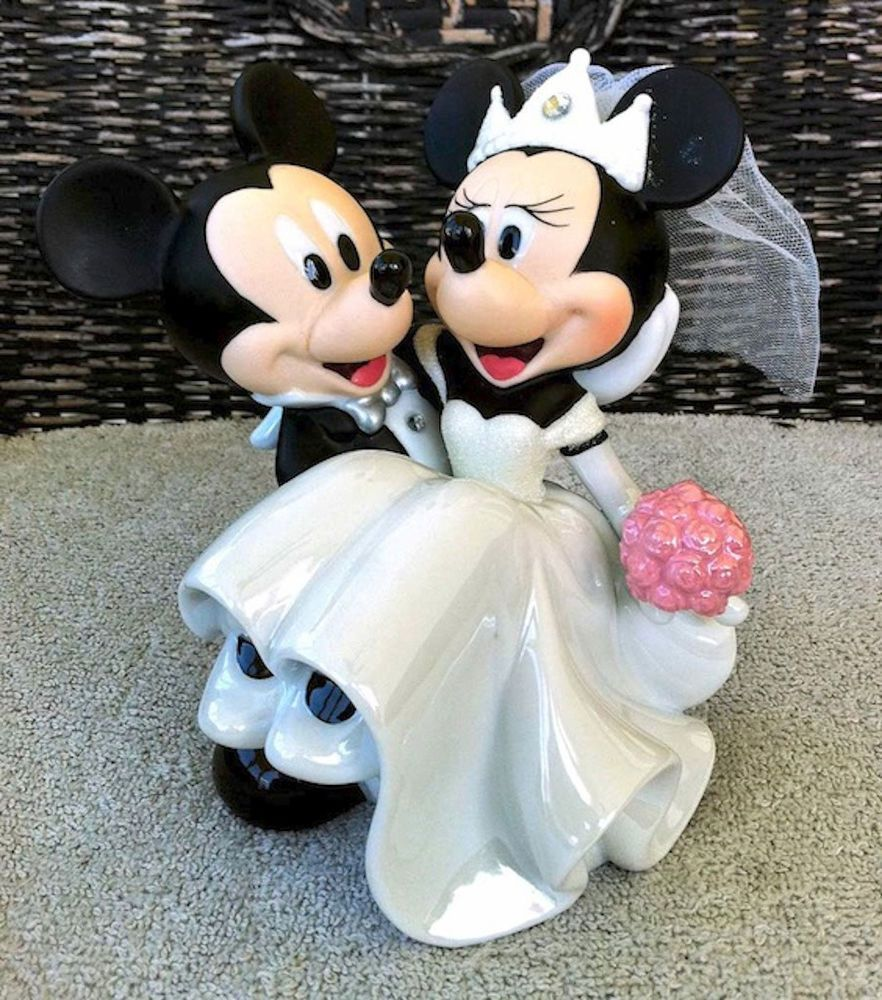 find this pin and more on bodas disney park mickey and minnie mouse wedding bride groom cake top topper figurine