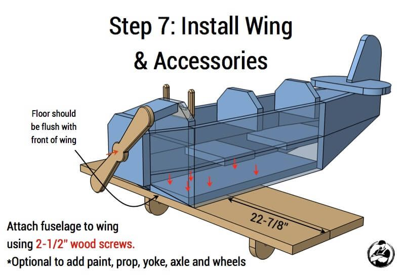 Airplane play structure woodworking projects for kids
