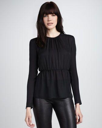 Notch-Front Blazer, Scarf-Neck Top & Slim Tailored Pants - Bergdorf Goodman (on sale @ Bloomies) :)