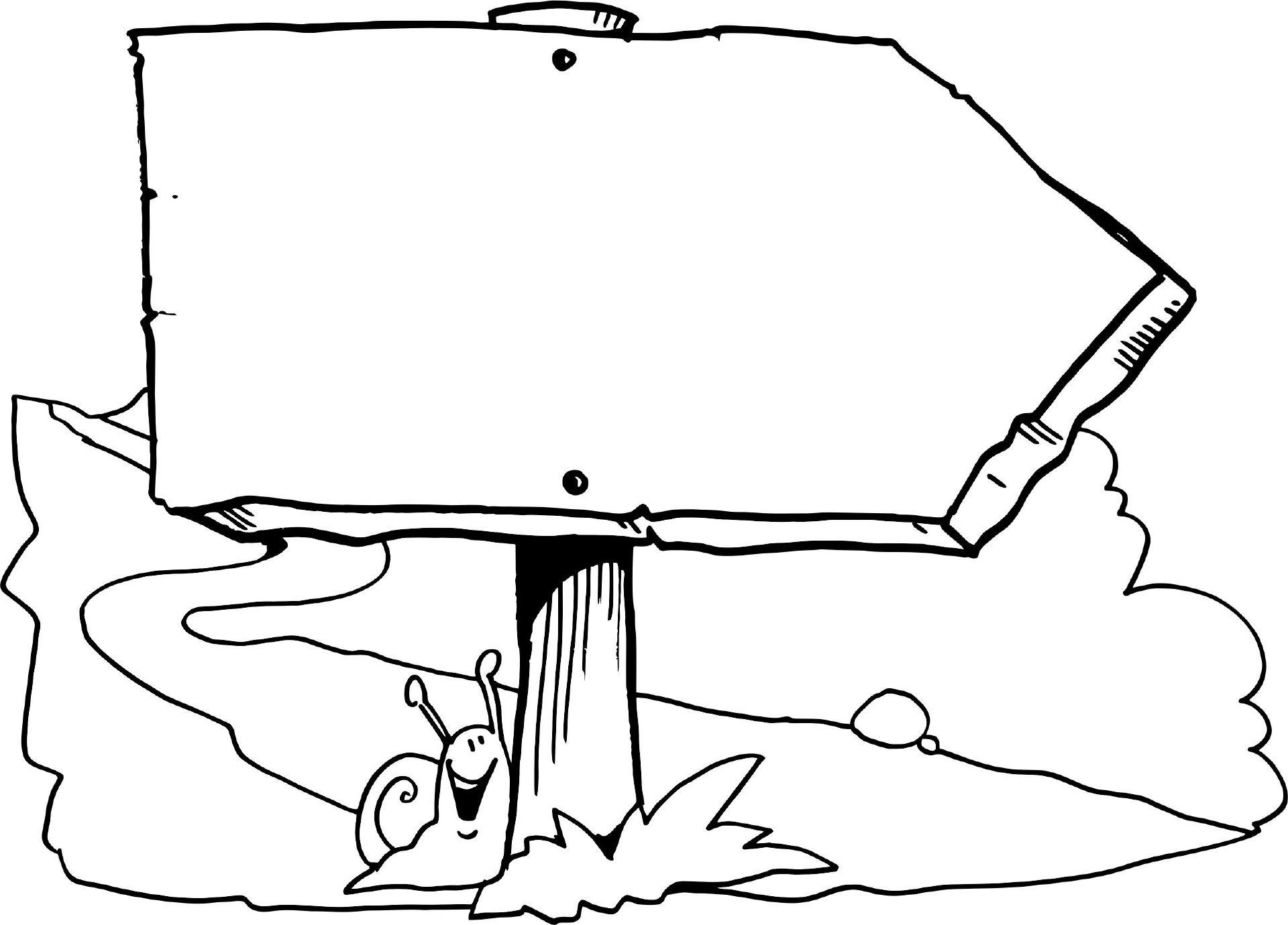 schild mit schnecke  ausmalbilder tiere ausmalen bilder