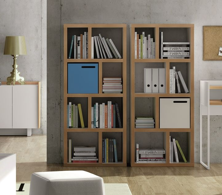 modern temahome 4 level 70cm berlin shelving unit in pure white and plywood opt storage boxes. Black Bedroom Furniture Sets. Home Design Ideas
