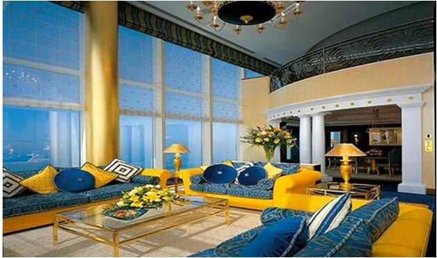 blue and yellow living room | yellow & blue combo | pinterest