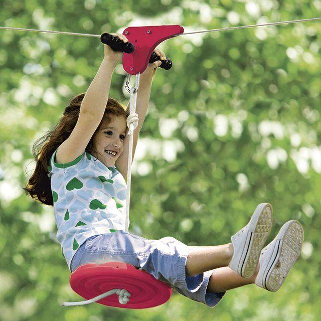 Slackers Zipline Kit | Backyard toys, Kids zipline ...