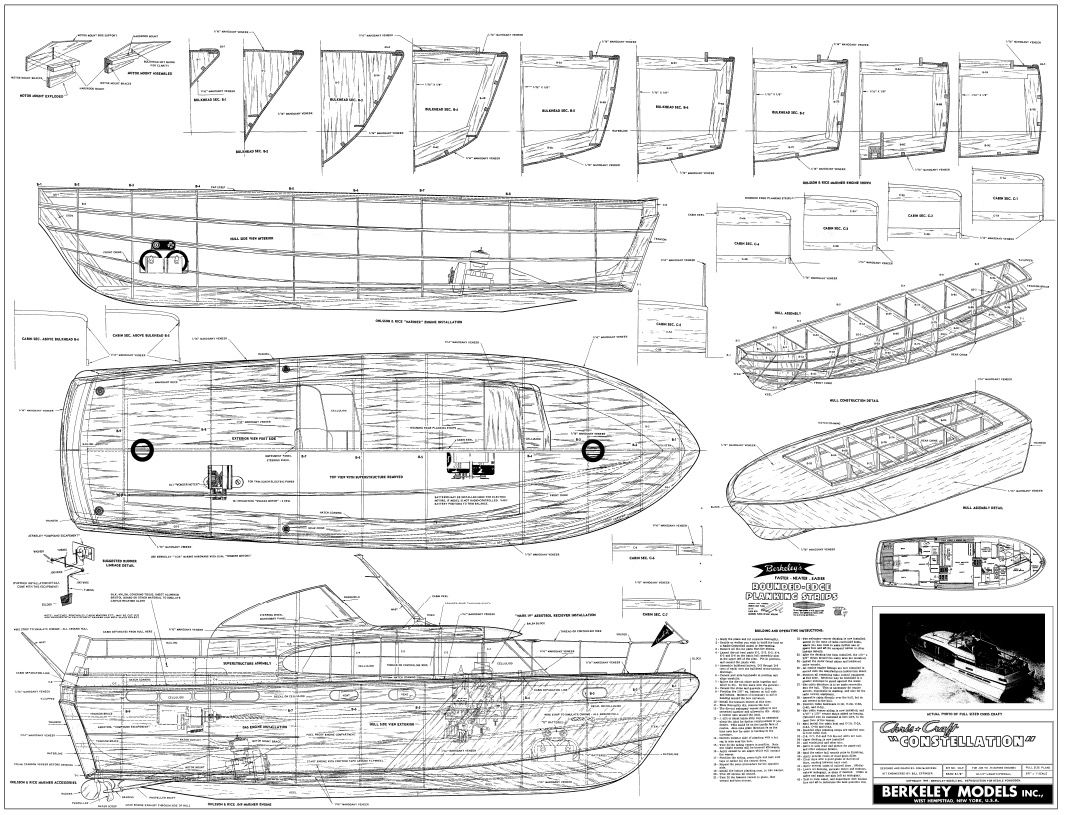 Chris craft model boat plans - Chris Craft Constellation Model Boat And Sailboat Plans Classic Boat That Needs No Comments