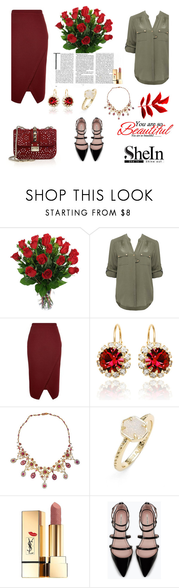 """""""Boring time"""" by mell-2405 ❤ liked on Polyvore featuring Forever New, Sevil Designs, Kendra Scott, Yves Saint Laurent, Zara and Valentino"""