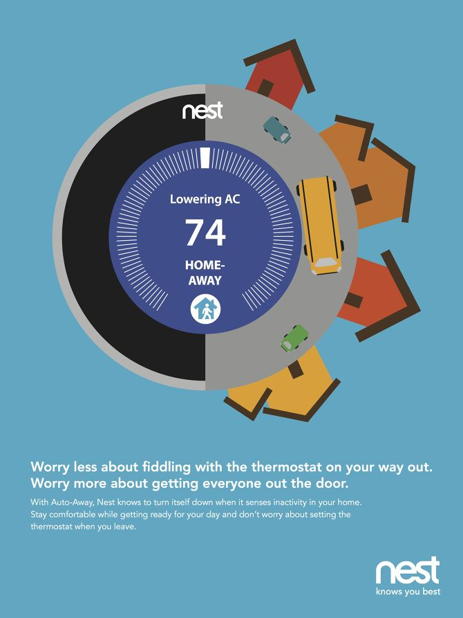 Nest thermostat #nest | Ad Style | Nest thermostat, Smart