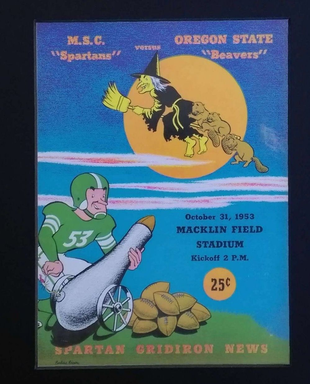 Oregon state beavers vs michigan state football program