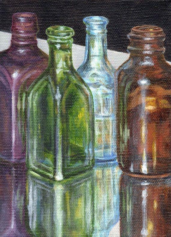 Original Acrylic Painting Small Still Life Painting Of