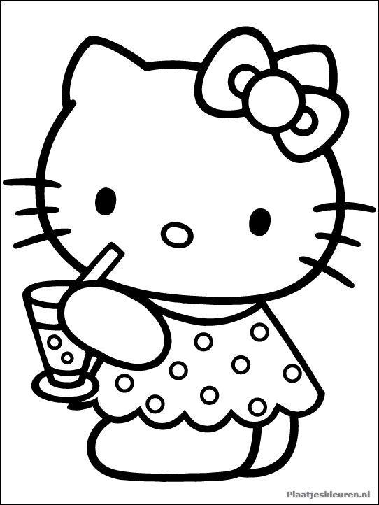 Kleurplaat Vakantie Hello Kitty Pinterest Hello Kitty Coloring
