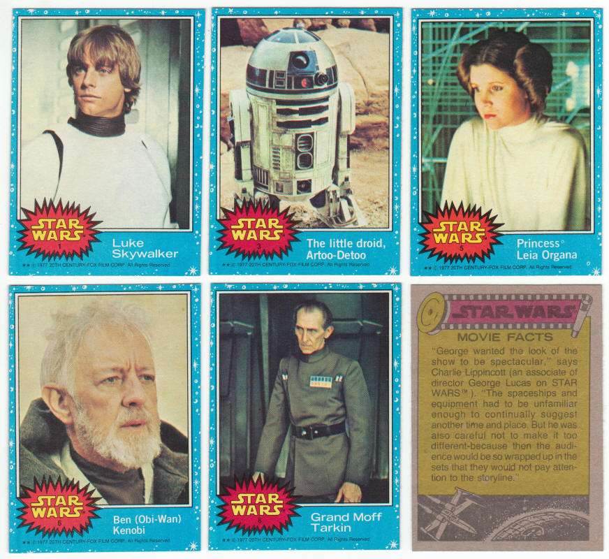 1977 Topps Star Wars Trading Cards Series 1 From A Near Complete Set Of Series 1 5 Cards And Stickers With Wrappe Star Wars Cards Star Wars Star Wars Trilogy