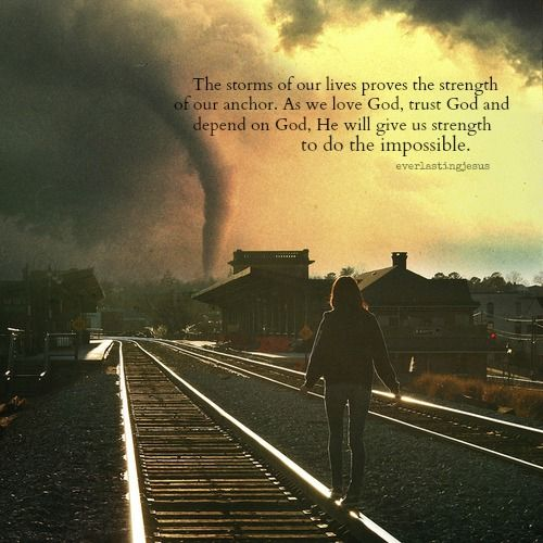 the storms of our lives proves the strength of our anchor ♥