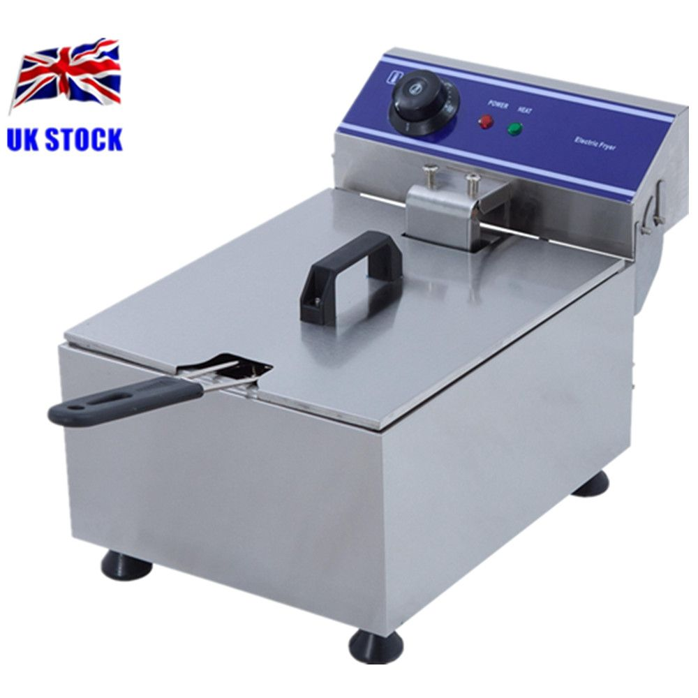 Home Use Electric Deep Fat Fryer Stainless Steel Cooker 6 Litre Oil ...
