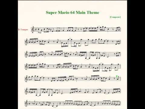 Super Mario 64 Bob-omb Battlefield Theme Sheet Music
