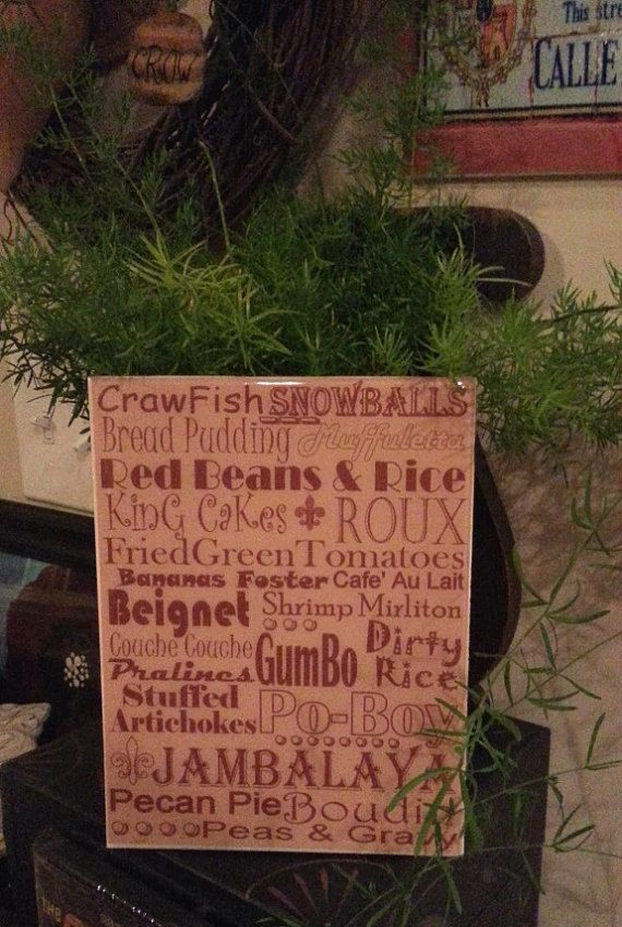 NEW ORLEANS Food Crawfish Cooking Subway Print Kitchen Decor Southern