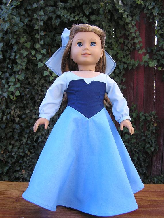 Princess Ariel Kiss The Girl Blue Dress For American Girl