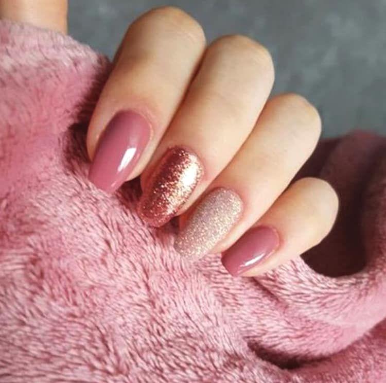 10 Elegant Rose Gold Nail Designs That You Should Try Rose Gold Nail Art Gold Nail Designs Rose Gold Nails Design