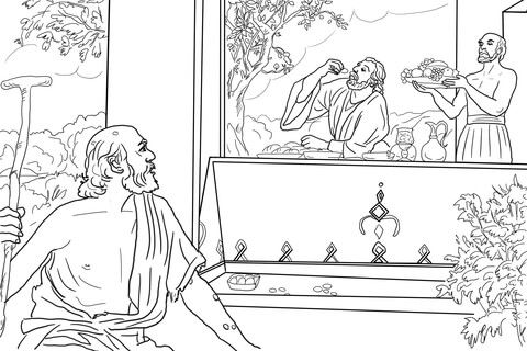 Rich Man And Lazarus Coloring Page Free Printable Coloring Pages Sunday School Coloring Pages Bible Coloring Pages Coloring Pages