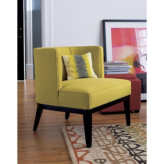 Grayson Mustard Yellow Accent Chair Reviews Crate And Barrel