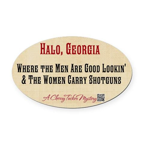 Oval Car Magnet on CafePress.com #CherryTucker #Mystery #South #Southern #Georgia