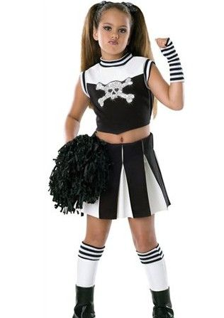 Girls Bad Spirit Cheerleader Costume - If sheu0027s not into frilly lace or velvet sheu0027ll love this trendy Bad Cheerleader costume.  sc 1 st  Pinterest & Kids Bad Spirit Gothic Cheerleader C | Goth Kids u0026 clothing ...