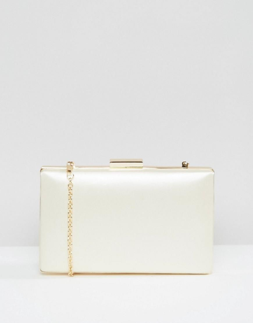 Asos Wedding Hard Clutch Bag Cream Adorewe