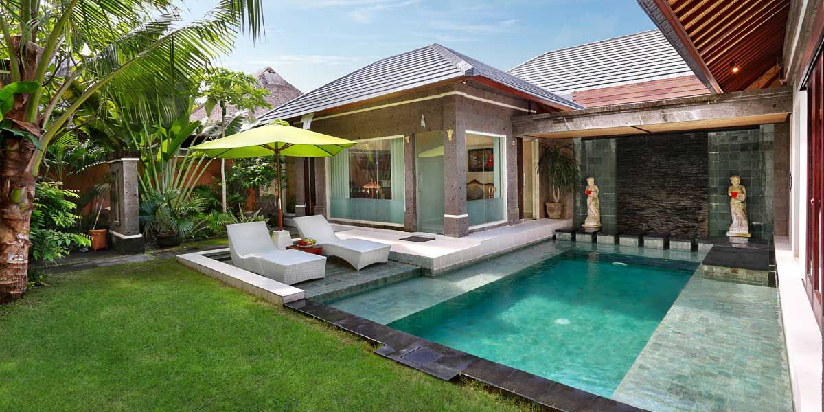One Bedroom Villas The Buah Bali Villas Pool Houses Beach House Design Small Villa