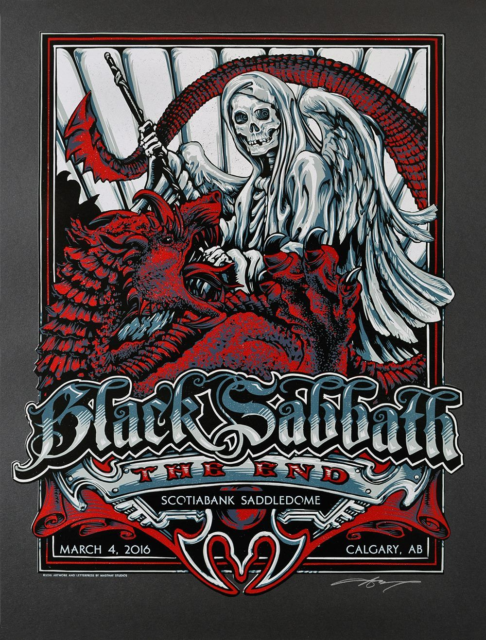 INSIDE THE ROCK POSTER FRAME BLOG: Black Sabbath AJ Masthay Calgary ...