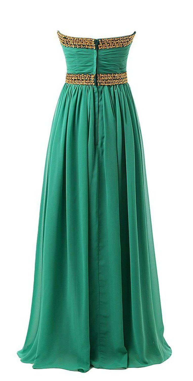 Ubridal Strapless Long Chiffon Floor Length Bridesmaid Dresses With ...