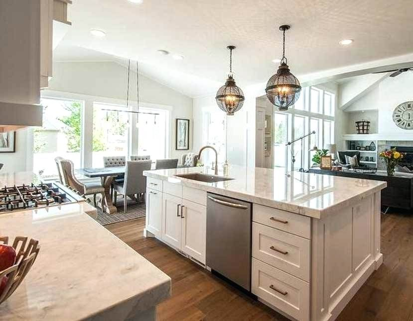 Kitchen Island With Sink And Dishwasher Dimensions