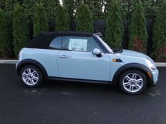 Want Eventually Maybe When I Get A Job Mini Cooper Convertible In Ice Blue