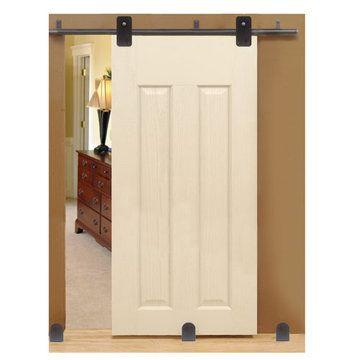 Custom Service Hardware Basic Rectangle Short Bracket Complete Sliding Door  Kit, $281.19